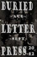 Buried Letter Press August September 2012